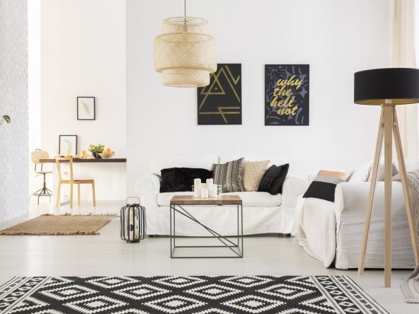 Stylish loft with sofa
